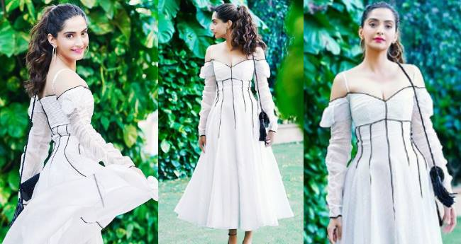 Sonam Kapoor Is Looking Like A Modern Day Princess Wearing A White Emilia Wickstead Dress