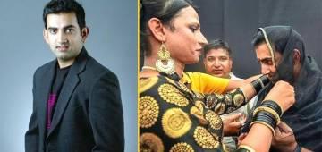 Gautam Gambhir Wears A Bindi And Dupatta To Support LGBT Community, Wins Our Hearts As Well