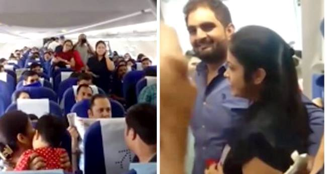 With The Help Of Airline Crew, Nagpur Man Proposes His Girlfriend In Filmy Style On Goa Flight