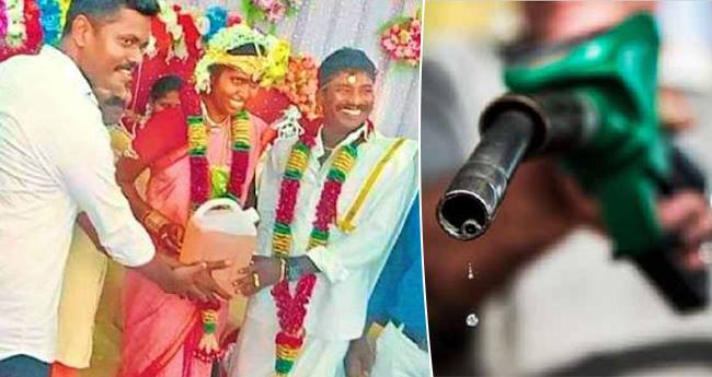 As The Fuel Prices Have Skyrocketed A Newly Wed Couple Gets 5