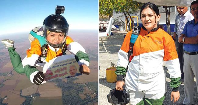 On PM Modi's 68th Birthday, Skydiver Jumped From 13,000 Feet In Chicago