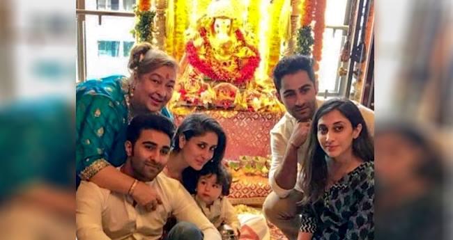 Taimur Takes Away The Limelight At His Uncle Aadar Jain's Ganeshotsav Celebration