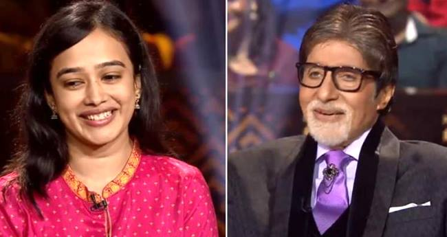 Amitabh Bachchan was totally flattered with the smile of KBC hot seat contestant Ishita Mer