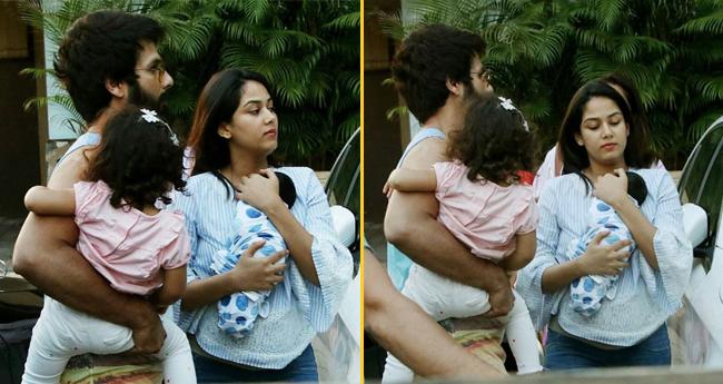 Shahid Kapoor And Mira Rajput takes their Baby Boy Zain Home