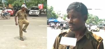 Home Guard In Odisha's Bhubaneswar Controls Traffic With His Dance Moves