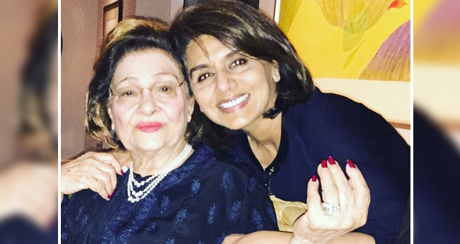 Neetu Kapoor's message for loving mom-in-law Krishna Raj Kapoor is a beautiful one