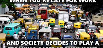 Hilarious social media memes that perfectly defines the crazy traffic in every country