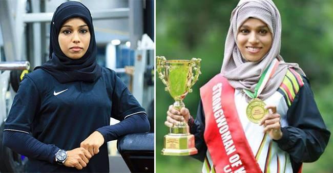 Majiziya Bhanu, a Hijab-Wearer lady from Kerala turns a super power-lifter