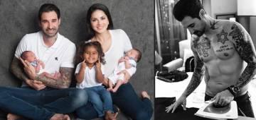 Sunny Leone's Husband Daniel Weber Gets His Kids' Name Inked