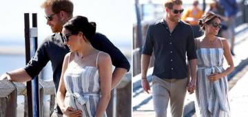 Meghan Markle And Prince Harry strolling in the street of Fraser Island seems regal as always