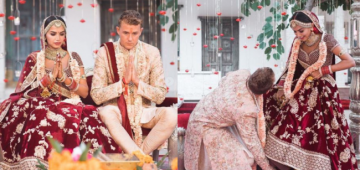 A Couple Breaks All Stereotypes, Husband Touches Wife's Feet To Show Equal Respect During Their Wedding