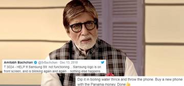Big B asks Tweeps to help him solve his phone issue, netizens have funniest response to it