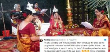 Here's a Viral Wedding Where Bride's Dad denied doing 'Kanyadaan' for this Reason