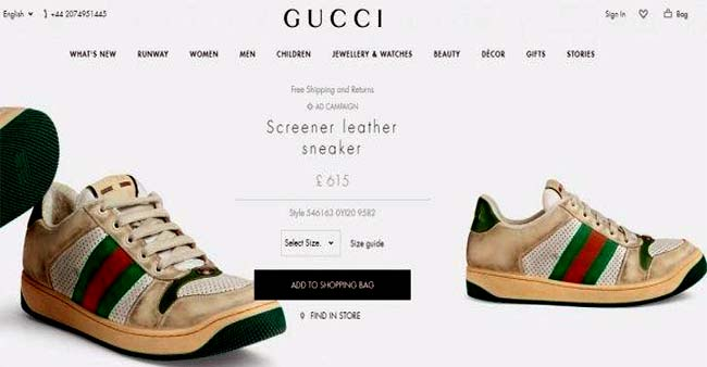 Gucci Is Selling Vintage Dirty Sneakers For Rs. 55,403 And Twitterati's Are Going ROFL On It