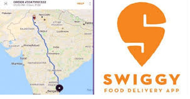 The unusual incident happened, Swiggy orders food online from Tamil Nadu but it was picked up from Rajasthan