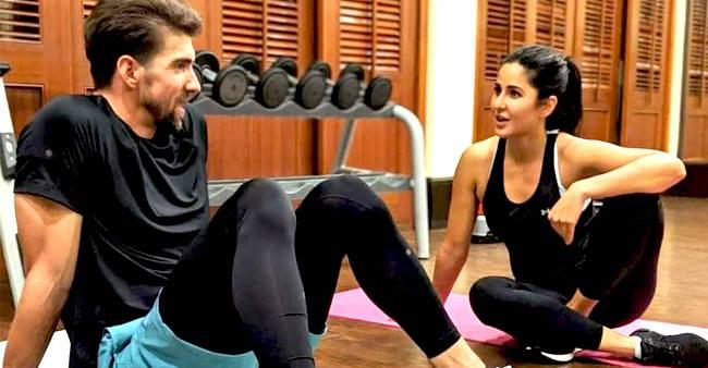 Katrina Kaif teases the Olympian Michael Phelps ...