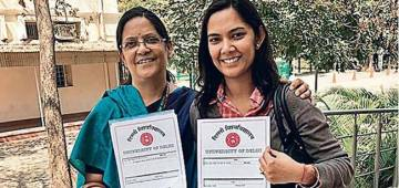 Mother- daughter duo from Delhi get PhD degrees together