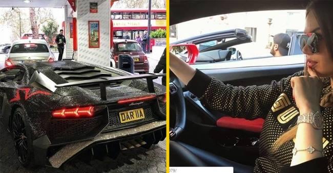 Instagram popular model covers her amazing Lamborghini with 2 Million Swarovski Crystals! Pic inside