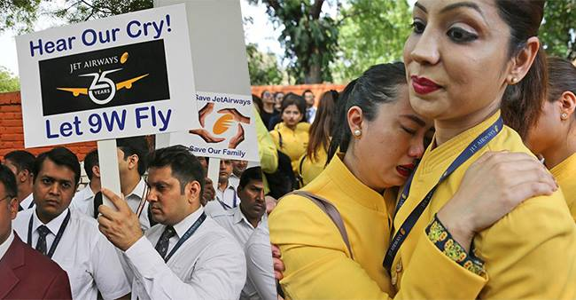 Unfortunate good-bye to Jet Airways; Employees are requesting for urgent recovery