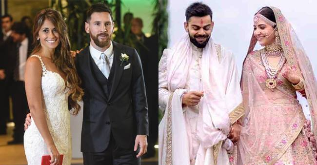 Check out the stunning wedding pictures of popular Sport superstars