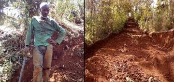 Interesting: A man in Kenya building his own roads amid baffled with politics, Read the complete story