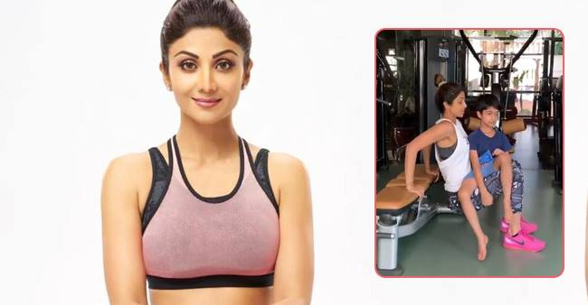 Shilpa Shetty's Workout Session Video with her Son Viaan Goes Viral