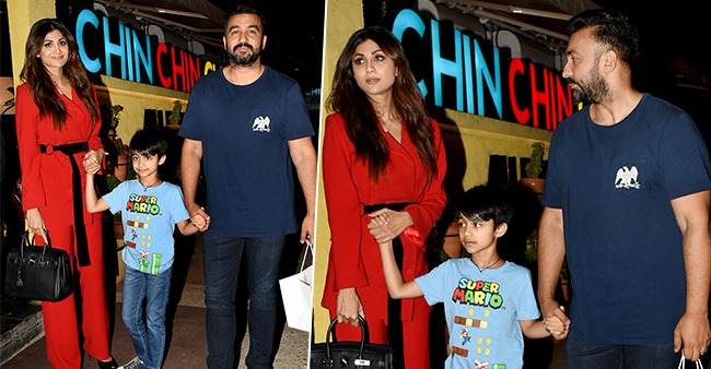 Super Dancer Judge Gorgeous Shilpa Shetty Spotted With Family In Juhu