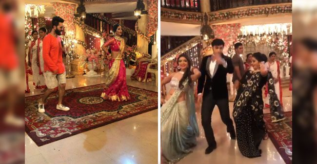 Watch this hilarious video of Parth Samthaan and Pooja Banerjee copying Hina Khan's steps from Kasautii Zindagii Kay 2
