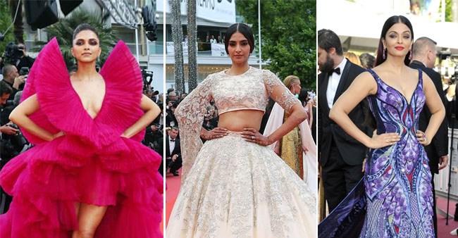 Deepika, Ash & Sonam choose designer attires to shine at Cannes 2019