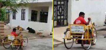 Differently-Abled Delivery Boy from Zomato Sets an Inspiration by Delivering Food through his Tricycle