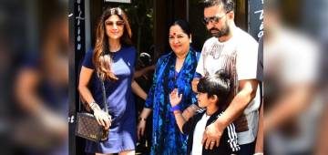 Shilpa Shetty Enjoys Her Day Out With Son Viaan And Husband Raj Kundra