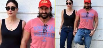 Saif Ali Khan and Kareena Kapoor's Cool Summer Look in Casual Outfit