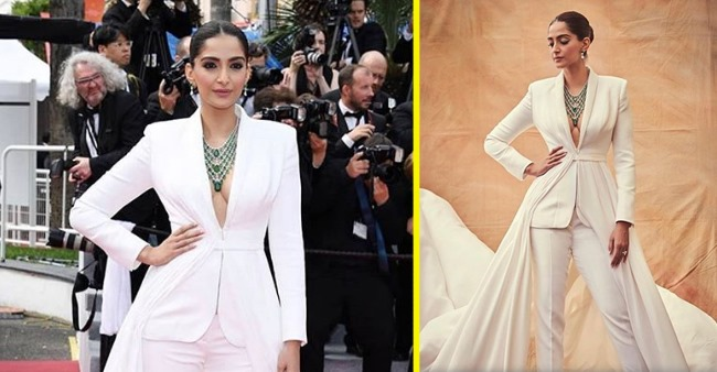 Sonam Kapoor owns the Cannes Film festival red carpet with THIS stunning outfit