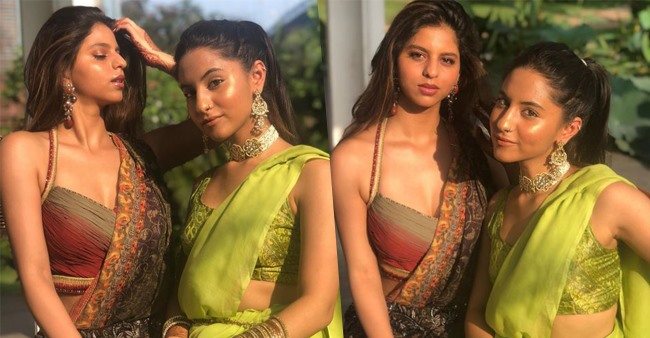 SRK's daughter Suhana looks gorgeous in traditional look as she attends a family wedding in Kolkata