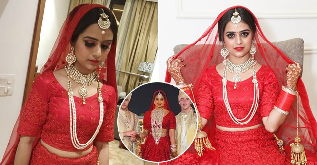 A Bride Replicated Priyanka Chopra S Red Wedding Lehenga Look And