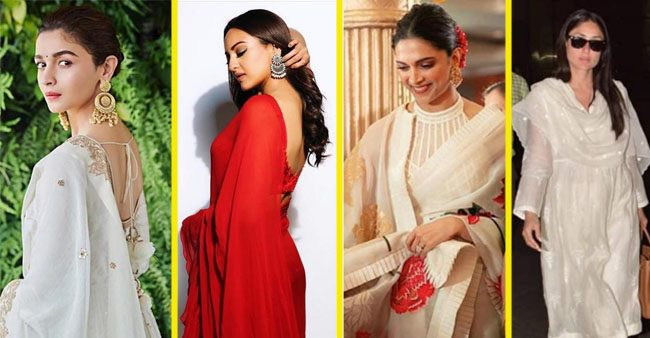 a907406dee Alia Bhatt, Deepika, and Sonakshi Looks Fabulous in Classic Ethnic Wear,  Perfect Costumes for summer