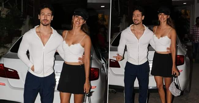 Tiger Shroff And Disha Patani Caught In Glamorous Looks Outside A Recording Studio