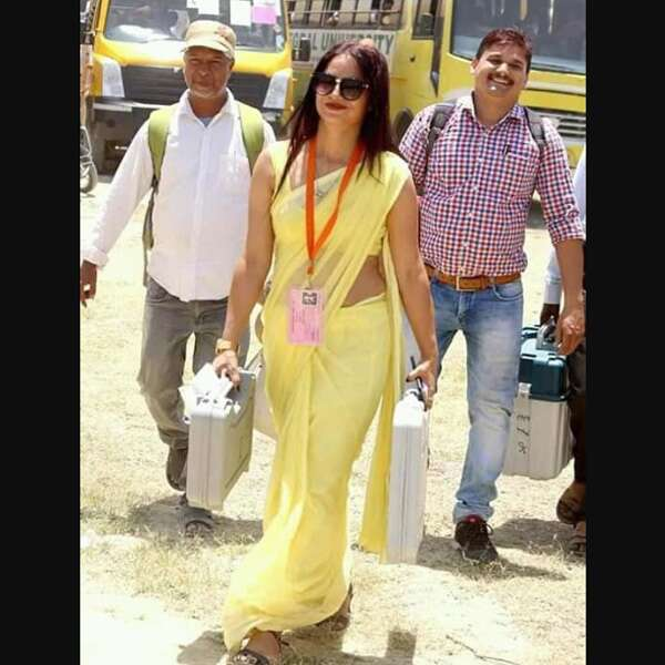 Revealed: Details about the yellow saree lady Election