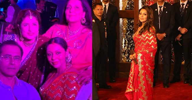 SRK's wifey Gauri repeats her stunning red sari from Isha Ambani's marriage for a family occasion