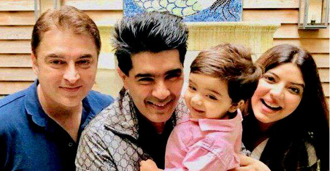 Jugal Hansraj,the famous actor from Mohabbatein meets Manish Malhotra With wife Jasmine in New York