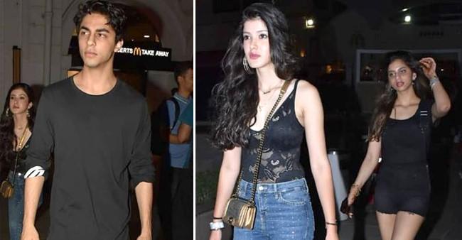 Suhana Khan, Shanaya Kapoor, Ananya Panday and Aryan Khan : The most popular star kids begins their weekend partying in style.