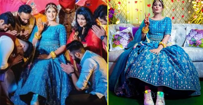 A bride wore LED shoes with lehenga & looked really cool