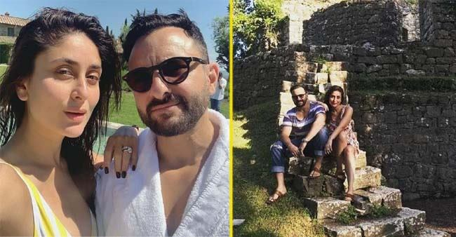 Sun-Kissed Pictures of Kareena Kapoor and Saif Ali Khan alongside Taimur from their Tuscany Vacation