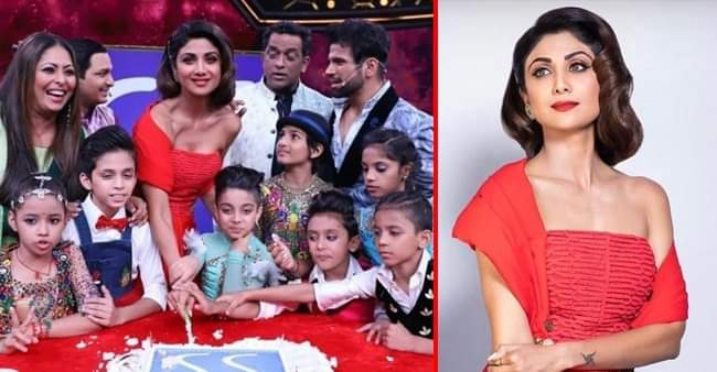Shilpa celebrates her birthday with the whole team of Super Dancer chapter-3