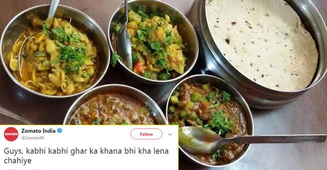 Zomato's Witty Tweet Gains Huge Popularity & Responses From