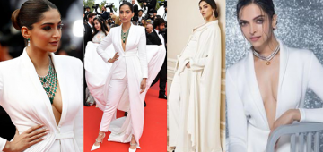 Rate – Deepika or Sonam that sported the pantsuit look with Jewellery better