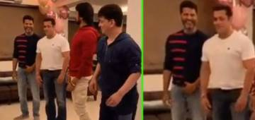 Sallu shakes legs with Prabhu Deva on Urvashi song; actor shares video