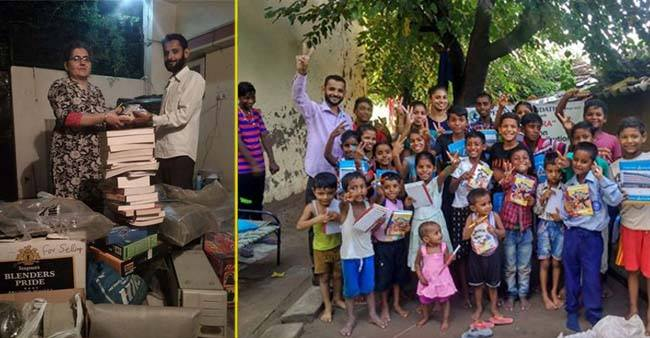 This Punjabi man collects used books and stationery to re-purpose it for poor kids