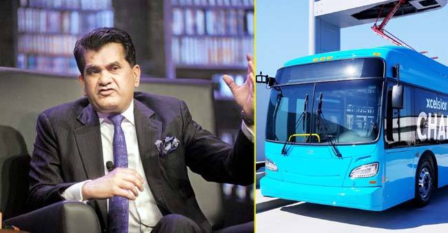 5,645 electric buses sanctioned by government for 65 Indian cities: Amitabh Kant
