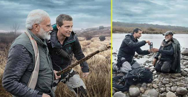 The unseen side of PM Modi – travels into the wildness with Man Vs Wild Gryll
